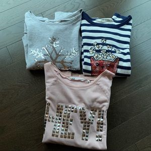 Bundle H&M girls sweaters - 3 items